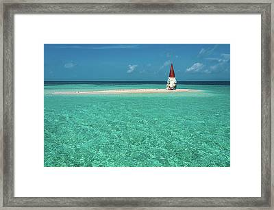 Framed Print featuring the photograph Island Gnome by Harry Spitz