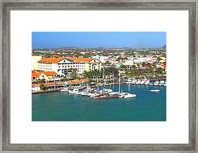 Island Harbor Framed Print by Gary Wonning
