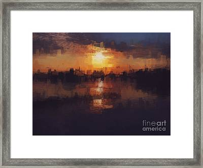 Island In The City Framed Print
