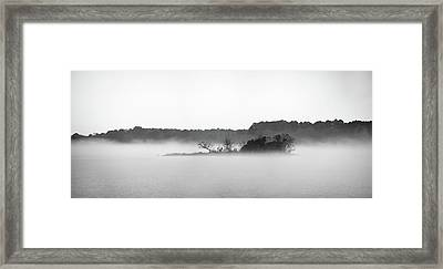 Framed Print featuring the photograph Island In The Fog by Todd Aaron