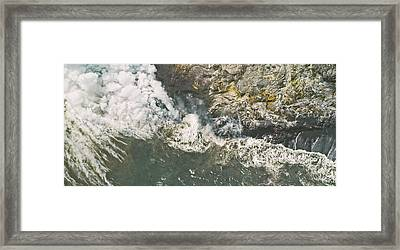 Island In The Making Framed Print by Peter J Sucy