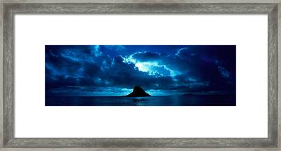 Island In The Sea, Chinamans Hat Framed Print by Panoramic Images
