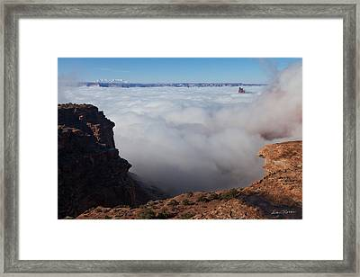 Island In The Sky Inversion Framed Print