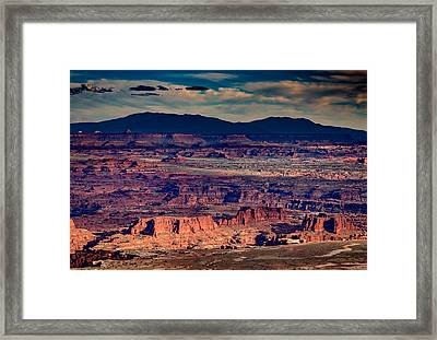 Island In The Sky Framed Print