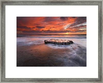 Island In The Storm Framed Print by Mike  Dawson