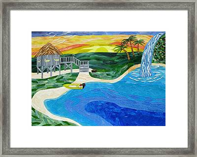 Island In The Sun Framed Print by Charles McDonell