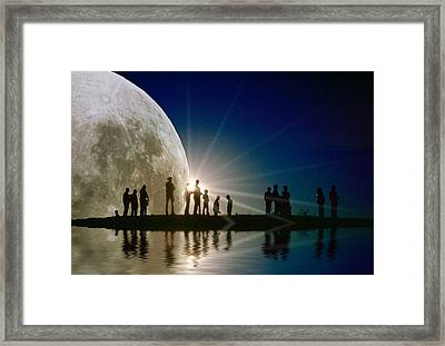 Island In Time Framed Print by Jerry McElroy