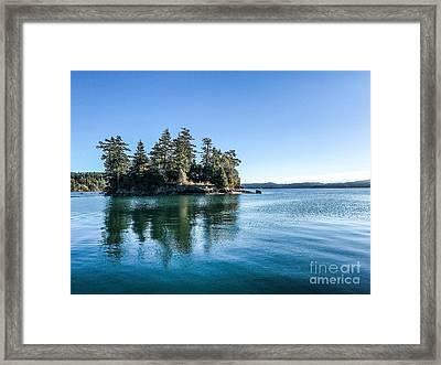 Island In West Sound Framed Print
