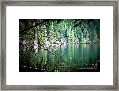 Island Lake Vignette Framed Print