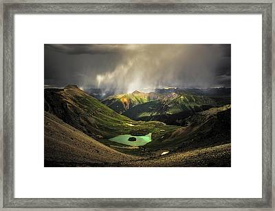 Island Lake Framed Print