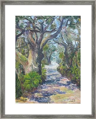 Island Lane Framed Print by Albert Fendig