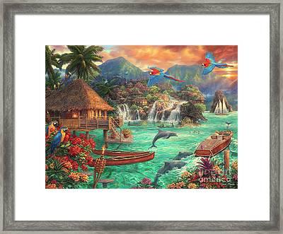 Island Life Framed Print by Chuck Pinson