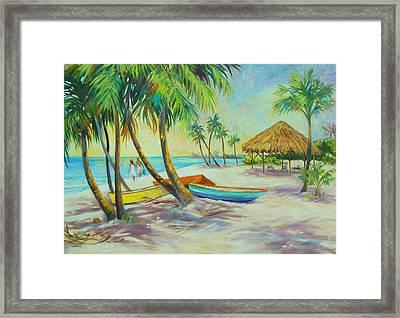 Island Memories Framed Print by Dianna  Willman
