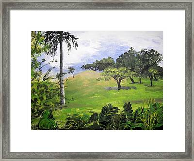 Framed Print featuring the painting Island Mood by Judy Via-Wolff