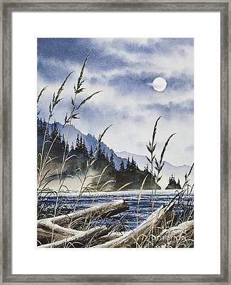 Island Moon Framed Print by James Williamson
