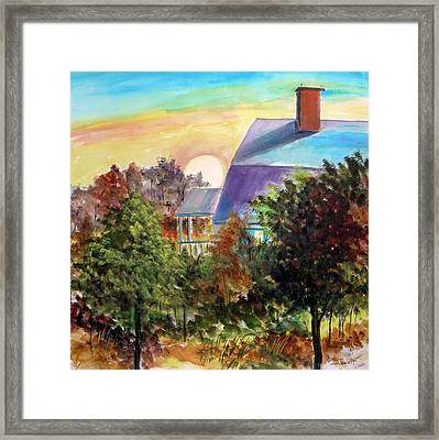 Framed Print featuring the painting Island Morning by John Williams