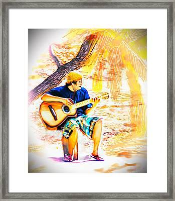 Island Music Framed Print
