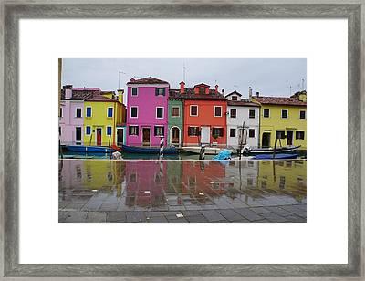Island Of Burano Framed Print by Deborah Bondar