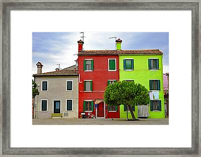 Island Of Burano Tranquility Framed Print