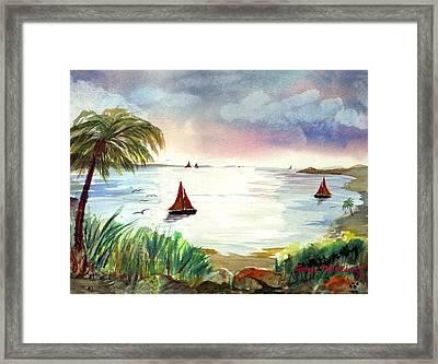 Island Of Dreams Framed Print by George Markiewicz