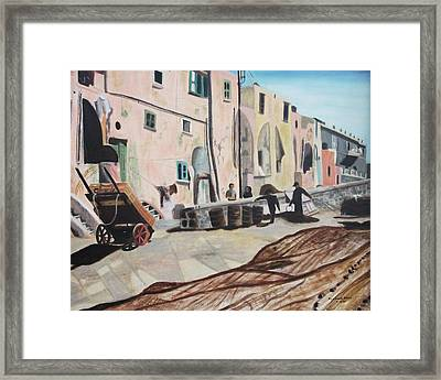Island Of Procida Framed Print by Suzanne  Marie Leclair