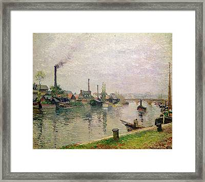 Island Of The Cross At Rouen Framed Print by Camille Pissarro