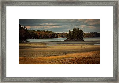 Island On The Lake Framed Print
