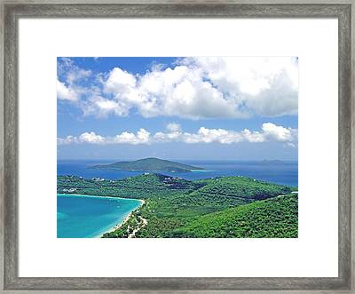 Framed Print featuring the photograph Island Paradise by Gary Wonning