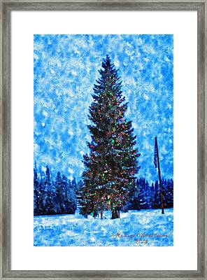 Island Park Christmas Framed Print by Image Takers Photography LLC - Laura Morgan
