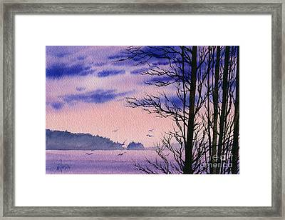 Framed Print featuring the painting Island Point by James Williamson