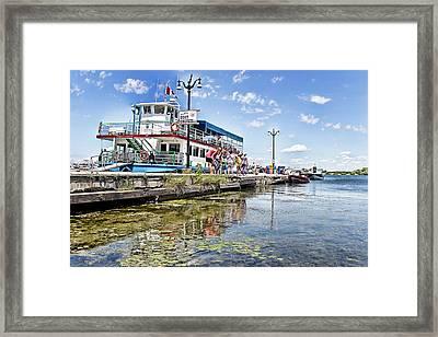 Island Princess At Harbour Dock Framed Print