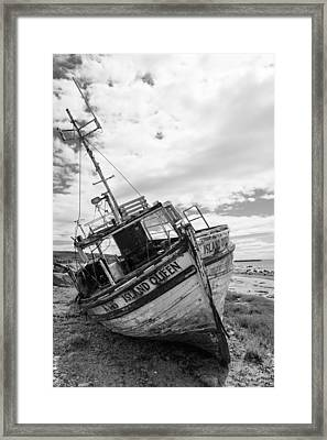 Island Queen - Abandoned Boat Framed Print