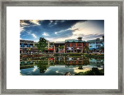 Island Reflection Framed Print