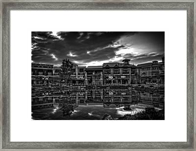 Island Reflection In Black And White Framed Print