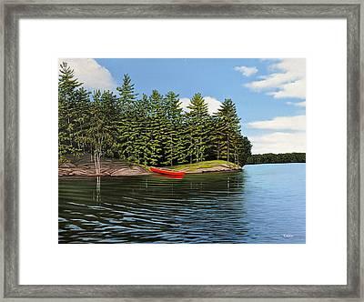 Island Retreat Framed Print by Kenneth M  Kirsch
