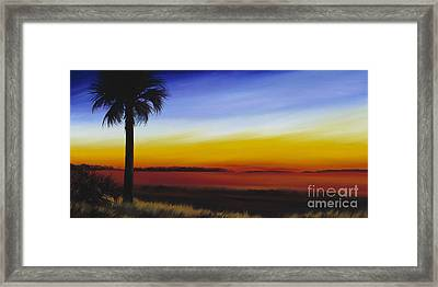 Island River Palmetto Framed Print by James Christopher Hill