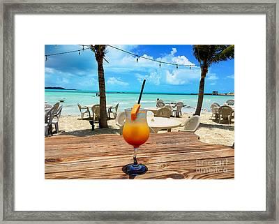 Island Rum Framed Print by Carey Chen