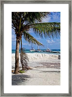 Island Scene Framed Print by Mamie Thornbrue