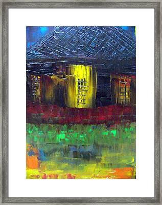 Island Shack 2 Framed Print by Glenda  Jones