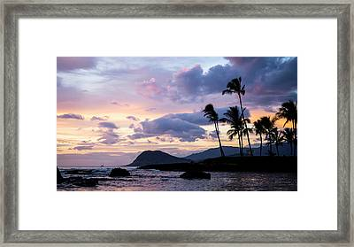 Island Silhouettes  Framed Print by Heather Applegate