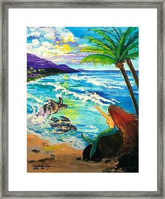 Island Sisters Framed Print