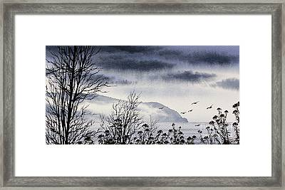 Framed Print featuring the painting Island Solitude by James Williamson