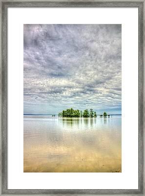 Island Storm Framed Print