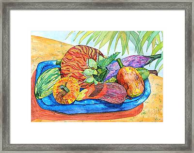 Island Style Wooden Fruit Framed Print by Caroline Street