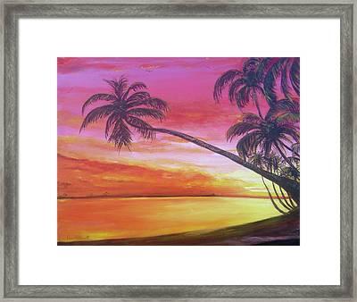 Island Sunrise Framed Print
