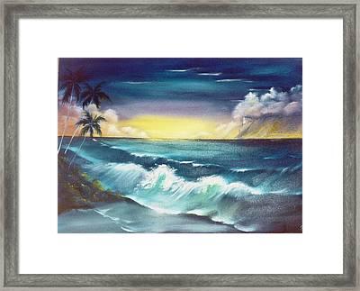 Island Sunset  Framed Print by Dina Holland