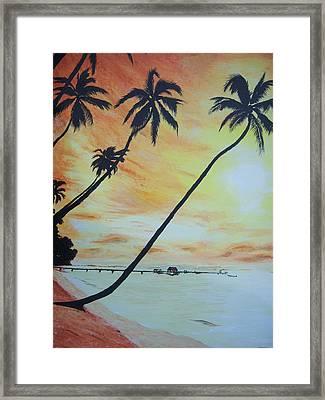 Island Sunset Framed Print by Ken Day