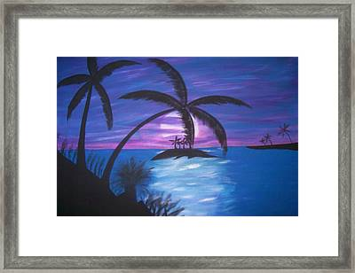Island Sunset Framed Print by Paula Ferguson