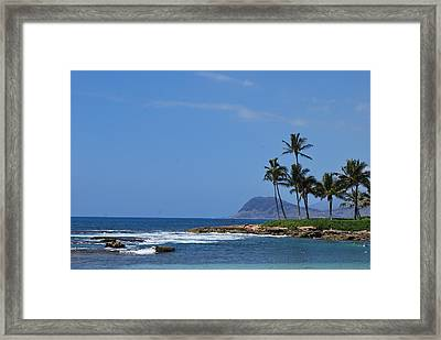 Framed Print featuring the photograph Island View by Amee Cave