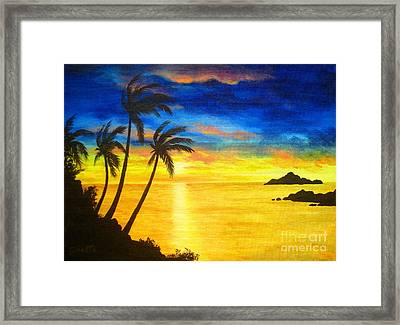 Island  Viewing Framed Print by Shasta Eone